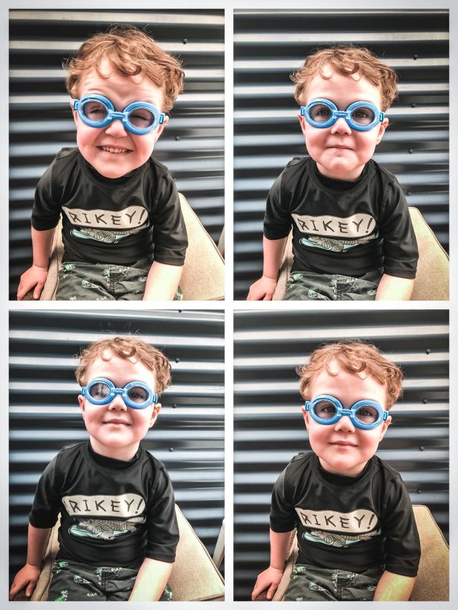 Goggles collage